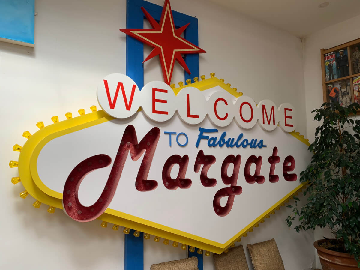 welcome to margate sign